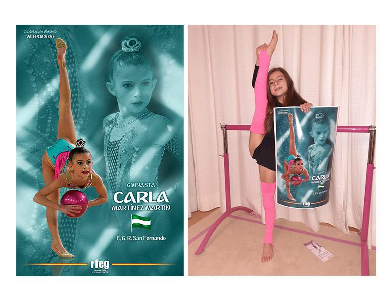 CARLA CON POSTER